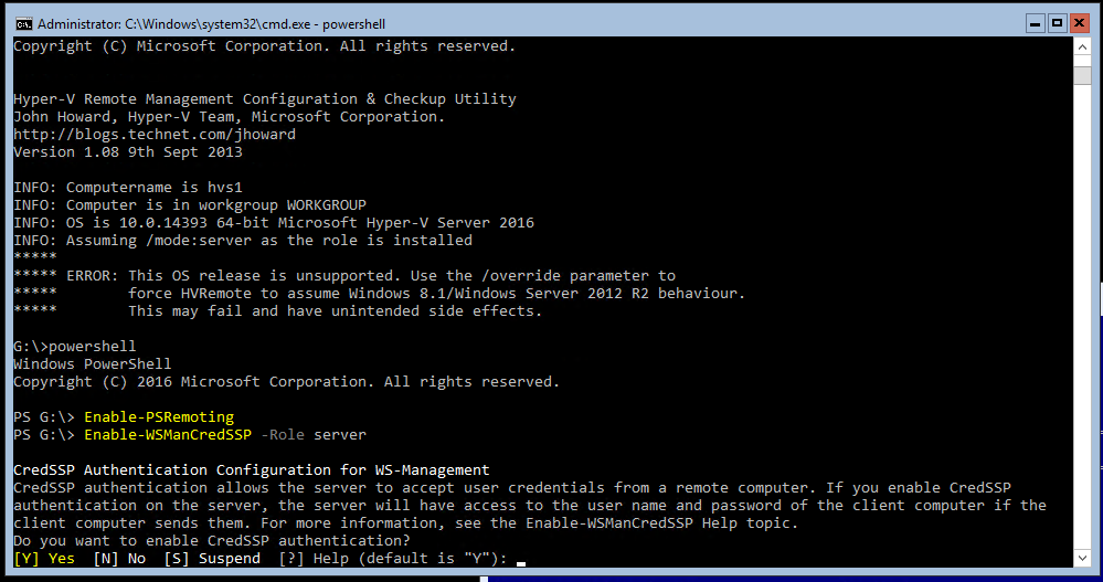 Using Hyper-V Manager to remotely connect to a Windows Hyper